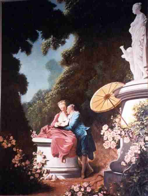 "Jean Honore Fragonard's ""Love Letters"" circa 1772, The Frick Museum, NYC"