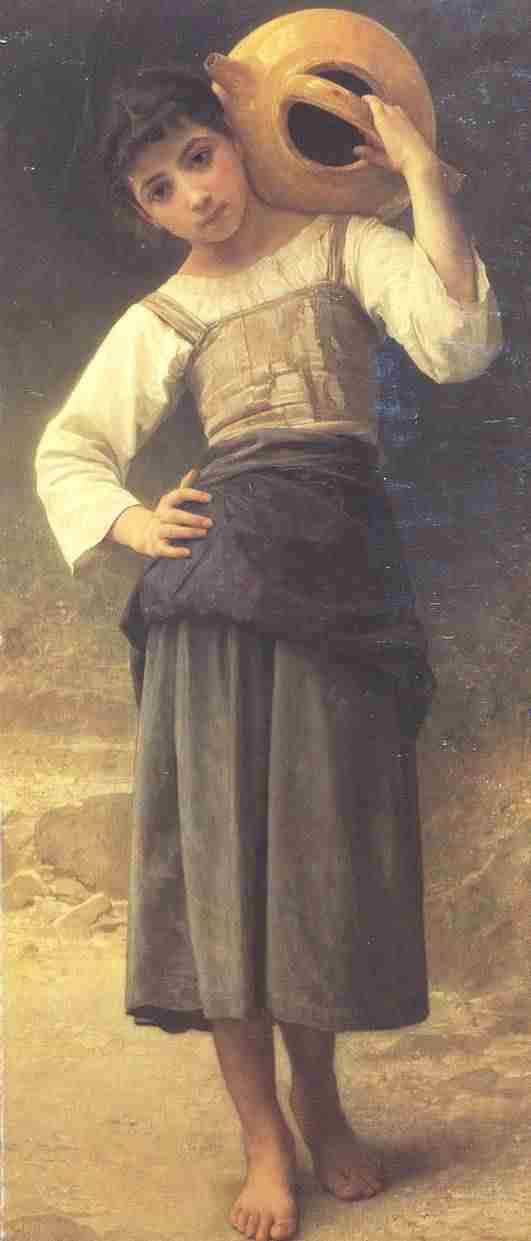 "Adolphe-William Bouguereau ""The Water Girl"" circa 1885, The Dahesh Museum"